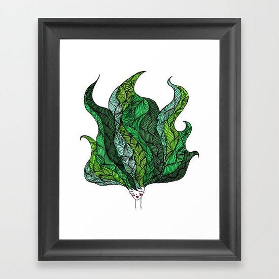 Leaf Head I Framed Art Print