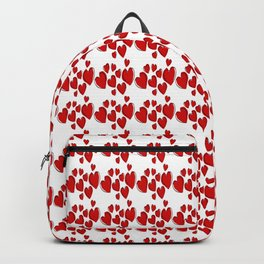 Cute Hearts Romantic Doodle Repeat Pattern Backpack