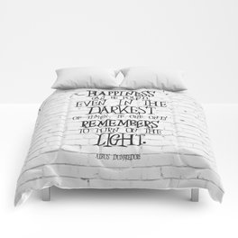 Albus Dumbledore Quote Inspirational Comforters