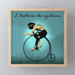 The Story of Cycling Framed Mini Art Print