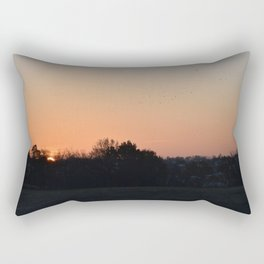 Flocks at Sunrise Rectangular Pillow