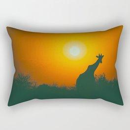 Lonely Sunset Giraffe Rectangular Pillow