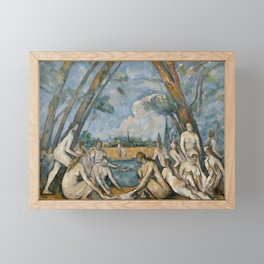 Paul Cezanne - The Large Bathers Framed Mini Art Print