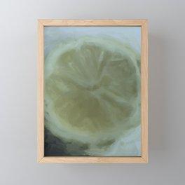 Slice of Lemon – Watercolour Framed Mini Art Print