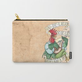 Alan-A-Dale Rooster : OO-De-Lally Golly What A Day Tattoo Watercolor Painting Carry-All Pouch