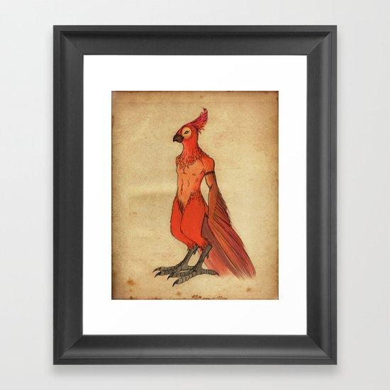 Jardis the Bird King Framed Art Print