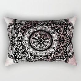 Dreamer Mandala Black Rectangular Pillow