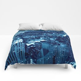 Chicago Nights Blue Comforters