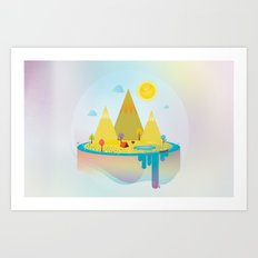Camping Outdoors Art Print