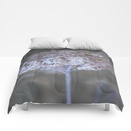 Frost Petals Of Hydrangea #decor buyart #society6 Comforters