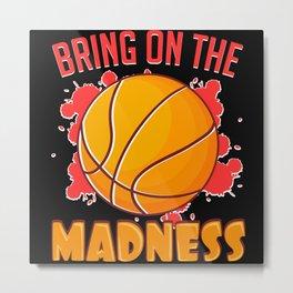 Basketball Madness Sports MVP Design Metal Print