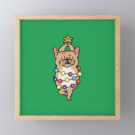 French Bulldog Merry Christmas Framed Mini Art Print