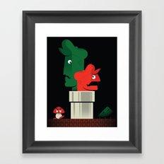 Pipe Down Framed Art Print