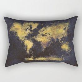 world map 65 yellow Rectangular Pillow