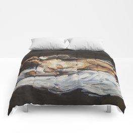 Lying Nude Comforters