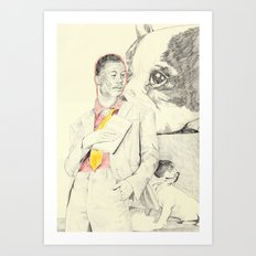 Gucci Mane with French Bulldogs Art Print