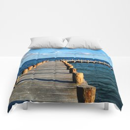 Docking In (Mexico) Comforters