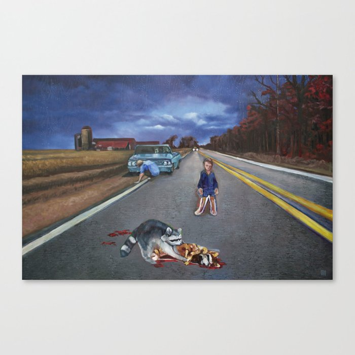 His GTO, the Raccoon, and You Canvas Print