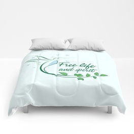 Hummingbird Free Life Quote Comforters
