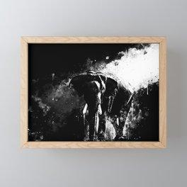 elephant jungle sunray ws bw Framed Mini Art Print