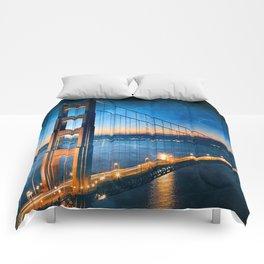 Golden Gate Ghost Bridge Comforters
