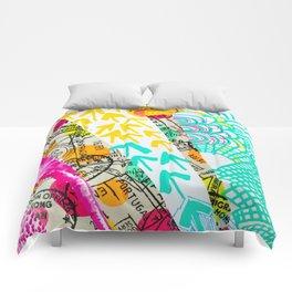 Geometric Abstract Travel Comforters