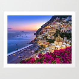 Positano Amalfi Coast Art Print