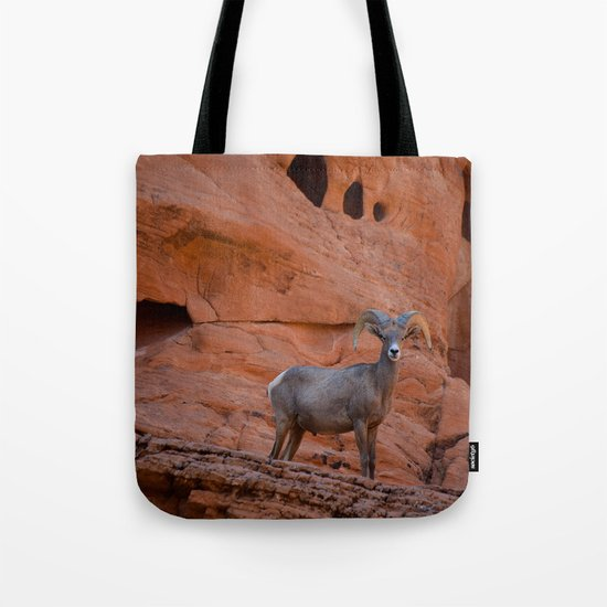 Desert Bighorn - Valley of Fire Tote Bag