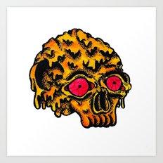 Skull Melting Art Print