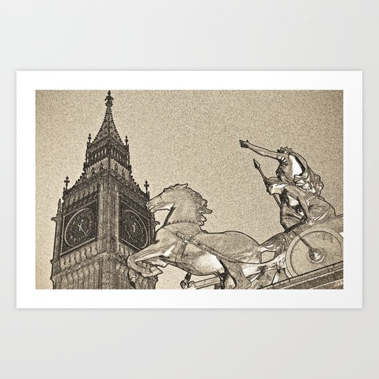 Big Ben And Boadicea Art Print