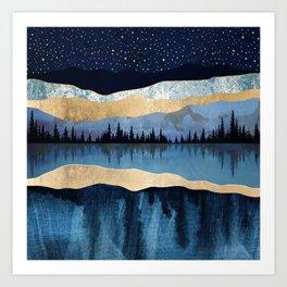 Midnight Lake Art Print