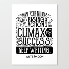 Keep Writing Canvas Print