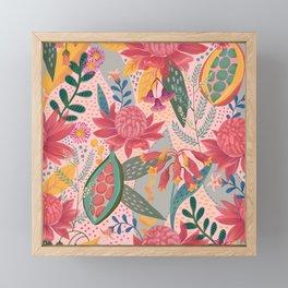 Australian Floral in Blush Framed Mini Art Print