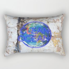 Clean Ocean – Save the Sea Rectangular Pillow