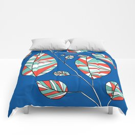 Colorful Tree Branch Drawing by Emma Freeman Designs Comforters