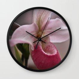 Ballet Slipper Orchid Wall Clock