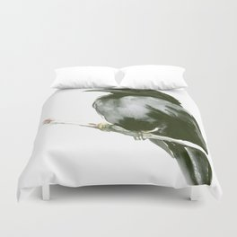 RAVEN on the tree Duvet Cover