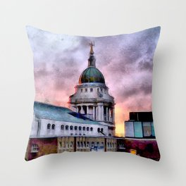 Old Bailey in London Throw Pillow