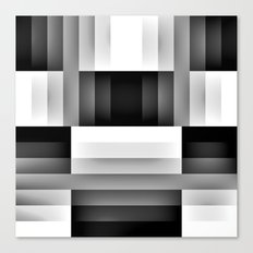 Black and WHite Gradient abstract Canvas Print