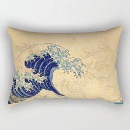 Hokusai parchment Rectangular Pillow