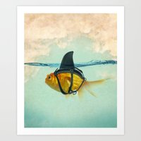 Art Prints featuring Brilliant DISGUISE by Vin Zzep