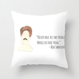 Swanson Quote Throw Pillow