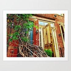 Vines over the Doorway Art Print