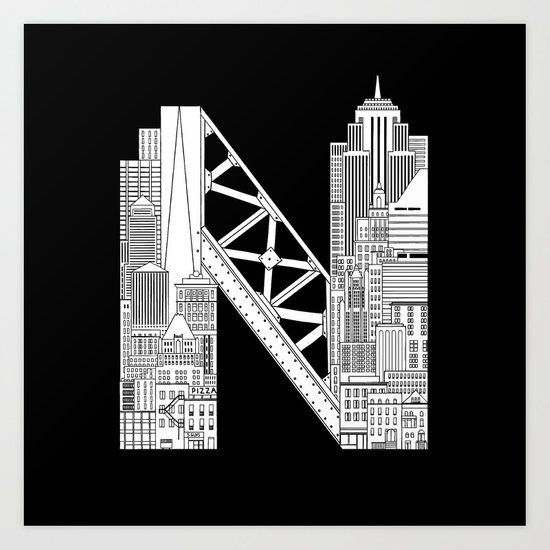 N - from NYC Art Print