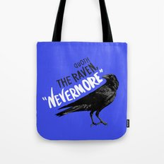 Nevermore Raven Blue Tote Bag