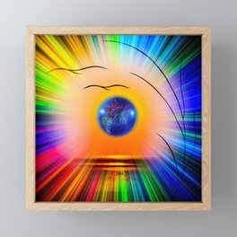 Abstract in perfection - Fertile Imagination Rose Framed Mini Art Print