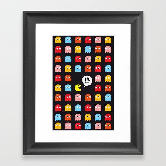 Pac-Man Trapped Framed Art Print