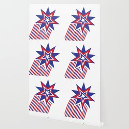 USA Patriotic Stars and Stripes Wallpaper
