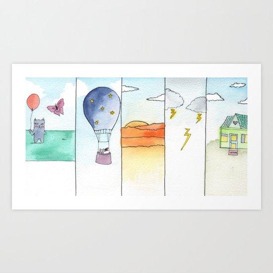 Fearie & Kitty  Art Print