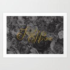Trust No-one Lettering Art Print
